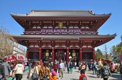 Tourists visit Sensoji temple Stock Image