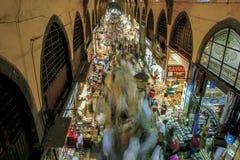 Tourists visit Spice Bazaar, Istanbul, Turkey Royalty Free Stock Photo