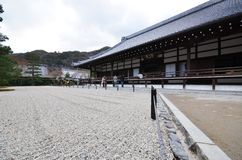 Tourists visit Tenryu-ji in Kyoto, Japan Stock Photos