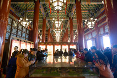 Tourists Visit Tienanmen Hall. Royalty Free Stock Photography
