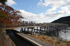 Tourists visit Togetsukyo in Kyoto, Japan Stock Photos