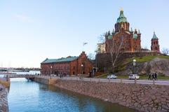 Tourists visit Uspenski Cathedral Royalty Free Stock Images