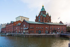 Tourists visit Uspenski Cathedral Stock Photos
