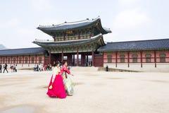 Tourists visited palaces Stock Photos