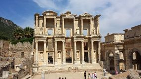 Tourists visiting the ancient city of Ephesus, Turkey Stock Images