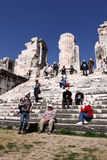 Tourists visiting Apollo temple, Didim, Turkey Royalty Free Stock Image