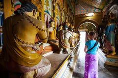 Tourists are visiting at buddist temple Stock Photos