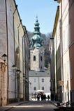 Tourists visiting the center of Salzburg Stock Photos