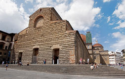 Tourists visiting Church of San Lorenzo in Florence Stock Photos