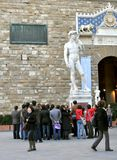 Tourists visiting the city of Florence, Italy Royalty Free Stock Photo