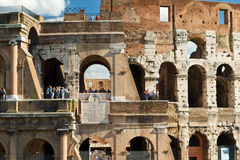 Tourists visiting the Coliseum, Rome Stock Images