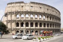 Tourists visiting the Coliseum Stock Photography