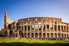 Tourists visiting Colosseum in Rome Stock Photography