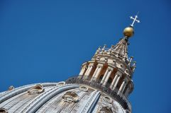 Tourists visiting the cupola of the Saint Peter`s basilica in Va Stock Photography