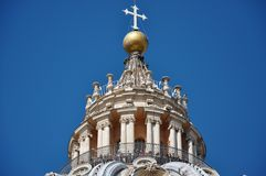 Tourists visiting the cupola of the Saint Peter`s basilica in Va Royalty Free Stock Image