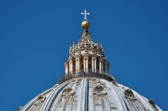 Tourists visiting the cupola of the Saint Peter`s basilica in Va Royalty Free Stock Images