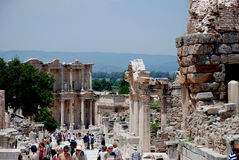 Tourists visiting Ephesus, Turkey Royalty Free Stock Images