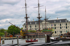 Tourists visiting the exhibits of the Netherlands Maritime Museum Stock Photography