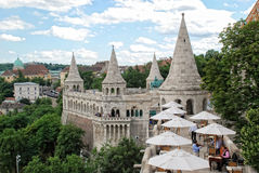 Tourists visiting Fisherman's Bastion on June 20, 2011 in Budapest, Hungary Stock Image
