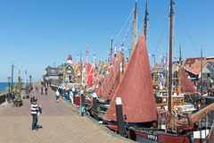 Tourists visiting  the fishing days of Urk, the Ne Royalty Free Stock Images