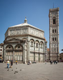 Tourists visiting Florence Cathedral. FLORENCE, ITALY - MAY 4: Tourists visiting Florence Cathedral on May 4, 2013. The Basilica di Santa Maria del Fiore is the Stock Image