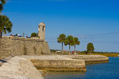 Tourists visiting Fort de San Marcos in St. Augustine Stock Photo