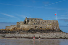 Tourists visiting fortifications Royalty Free Stock Photography