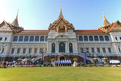 Tourists visiting the the Grand Palace Stock Photo