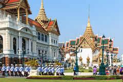 Tourists visiting the the Grand Palace Stock Images