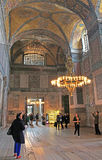 Tourists are visiting the Hagia Sophia in Istanbul, Turkey Royalty Free Stock Photo