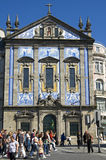 Church, Igreja of Congregados, and azulejos Royalty Free Stock Photos