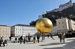 Tourists visiting the historical center, Salzburg Stock Photography