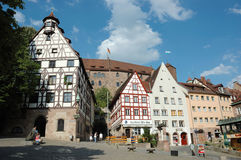 Tourists visiting house of famous german painter Albrecht Durer,Nerenberg,Germany Stock Photo