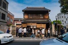 Tourists visiting Kawagoe town stock images