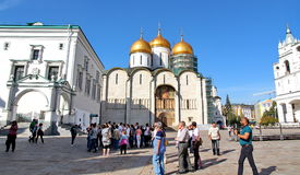 Tourists visiting the Kremlin Royalty Free Stock Photo