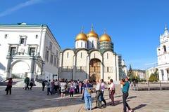 Tourists visiting the Kremlin Stock Image