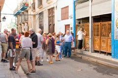 Tourists visiting La Bodeguita del Medio in Havana Royalty Free Stock Photos