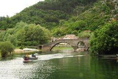 Tourists visiting lake Skadar national park on a boat Stock Image