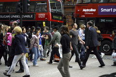 Tourists visiting london Stock Image