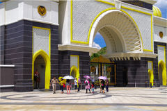 Tourists visiting the Malaysia new royal palace at Jalan duta, Kuala Lumpur, Malaysia. Stock Photos