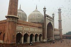 Tourists visiting Masjid-i Jahan-Numa mosque,Old Delhi,India Stock Photography