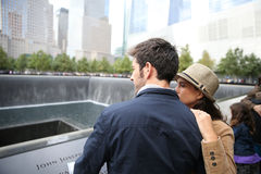 Tourists visiting memorial in new york Stock Images