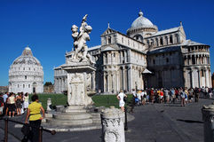 Tourists visiting Miracoli Square in Pisa, Italy Stock Images