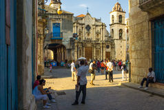 Tourists visiting  Old Havana Royalty Free Stock Photo