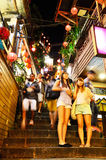 Tourists visiting the old Jishan Street in Jiufen Royalty Free Stock Photo