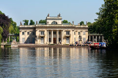 Tourists visiting the Palace on the Water in Warsaw royalty free stock images