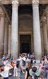 Tourists visiting the Pantheon Royalty Free Stock Photography