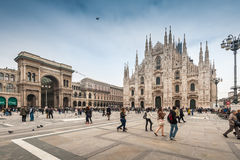 Tourists visiting the Piazza Duomo square Stock Photography