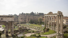 Tourists visiting the Roman Forum Stock Photo