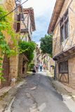 Tourists Visiting Saint-Cirq-Lapopie In France Stock Photos